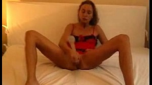 Wife masturbates and gets fucked