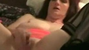 Mature Masturbating with huge