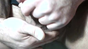 Rubbing My Balls and Stroking