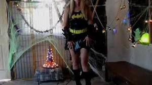 Batgirl with Dildo