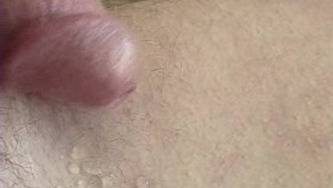Soft cock shoots cum