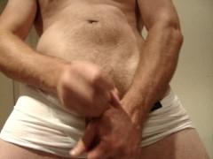 Hot wet guy wanks white