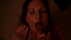 Wife taking cumshot