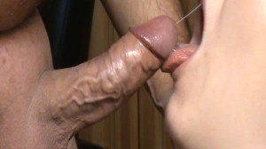 Cumslut Emma big mouthfull of