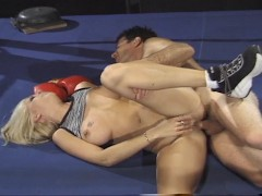 Blonde boxer goes down for the count