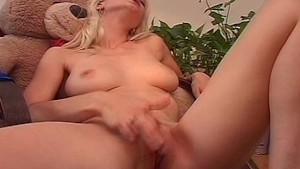 Cute blonde gets her jollies 2