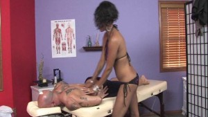Sexy Masseuse Tricks Client Pt. 1/2
