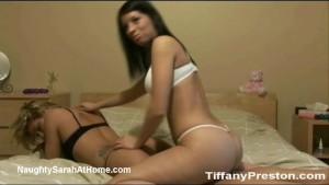 2 hot babes teasing on camera