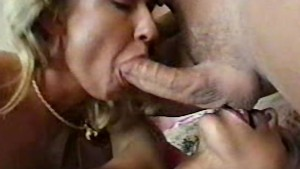 Lucky guy in threesome