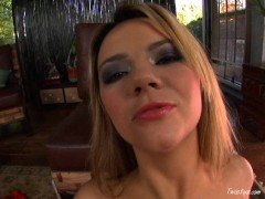 Ashlynn Brooke Oils Her Tits And Pussy