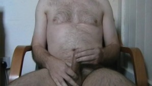 Wank and orgasm - first time on camera