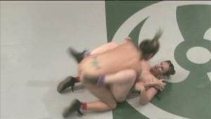 Busty girls wrestling - winner