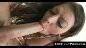 Brunette cumbucket gets a mean
