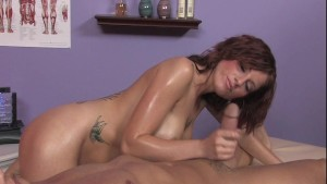 Tricia Oaks gives happy ending massage