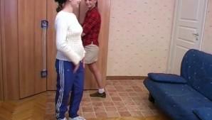 Lesbian trainer seduces shy trainee girl