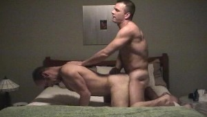 Dude cums from behind to pass audition