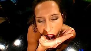 Bukkake Brunette Facial Sperm