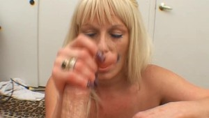 LUCY TAKES CUM ON HER BIG TITT