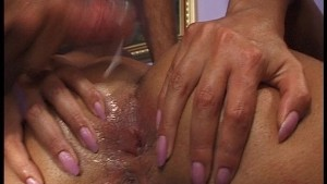 Redhead banged by two guys pt