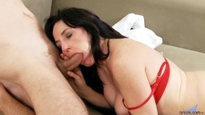 Horny Amateur Cougar Sucking Cock and Fucked Hard