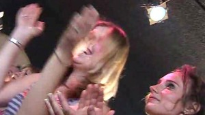 CFNM Strippers cock sucked by