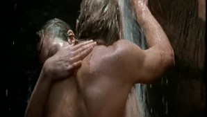 Lane having sex under waterfall