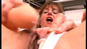 Playing with a Pierced Dildo pt 1/2