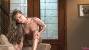 Naughty Capri Works Her Shaved Pussy
