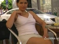 - Sexy girl in miniskirt...
