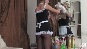 Lesbian madame and her maid