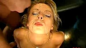 Blonde German girl gagging!
