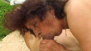 Hot Grannie trying to turn on