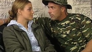 Sweet Brunette fucked by Soldier