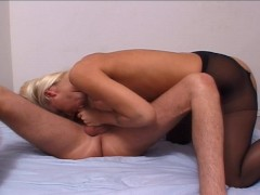 pantyhose prick suck