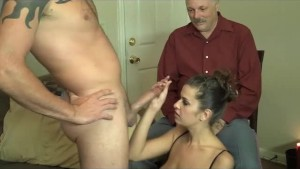 amazing Milf teasing a old guy