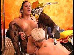 Picture Hot Biker Babes Ride Each Other