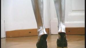 Pornstar Eva complete paint in silver