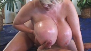 massive oiled monster boobs