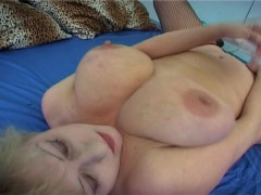Mature with Big Tits Plays with Her Clit