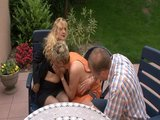 Simone let's Jacky and Peter check her out