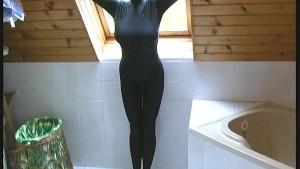 Blonde Kata Model in black cat