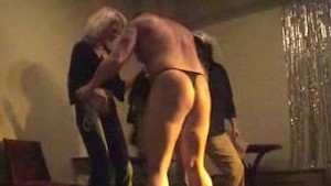 wild crazy girls having fun with strippers