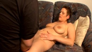 Horny Housewife Eats Couch Pot