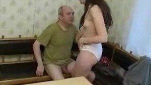 Russian grandfather fucks nurse