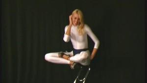Flexi Jodi in white spandex