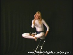 Flexi Jodi in white spandex