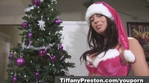 Santa's babe Tiffany masturbate 1of2