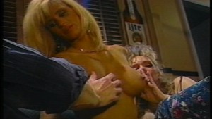 Sexy blondes share one cock