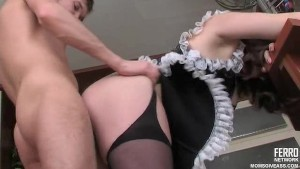 MILF maid provides anal service