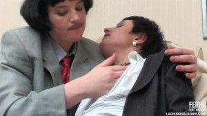 Lesbian crossdressers kissing